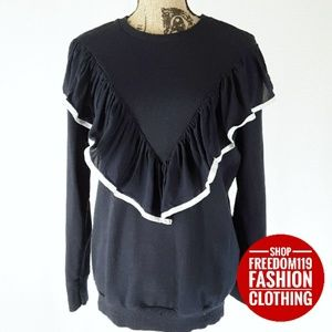 Zara | Ruffle Front Popover Top (S)